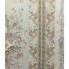 Pair Drapes 10' x 6' Silver Floral Scroll Stripe Sateen