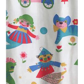 Pair Drapes 5' x 4' Multi Animals & Clowns & Trains Print