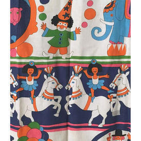 Pair Drapes 5' x 4' Royal Circus Print