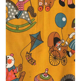 "Pair Drapes 4'11"" x 3'4"" Orange Moygashel Playtime Toys Print"