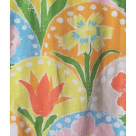 Pair Drapes 7' x 4' Bright Multi Large Floral Print Cotton