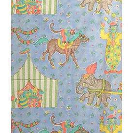 "Pair Drapes 7'3"" x 6' Sky Designers Guild Circus Cotton"