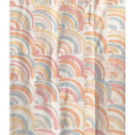 """Pair Drapes 4'6"""" x 4' Peach Rainbows Print"""