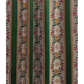 """Door Curtain 7'3"""" x 3'8"""" Emerald Regency Stripe Sateen Weave"""