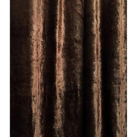 "Door Curtain 7'10"" x 5' Brown Silky Panne"