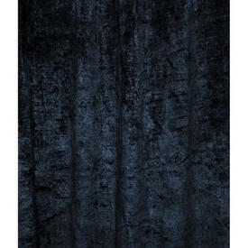 "Door Curtain 7'9"" x 4' Navy Silky Plush"