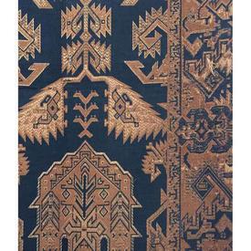 Door Curtain 8' x 4' Navy / Terracotta Worn Kelim