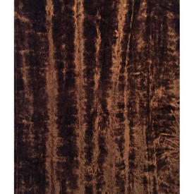 "Door Curtain 8'3"" x 3'8"" Brown Silky Plush"