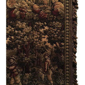 "Door Curtain 9'8"" x 3'6"" Khaki Scenic Tapestry"