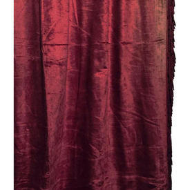 "Door Curtain 10' x 2'6"" Red Panne"