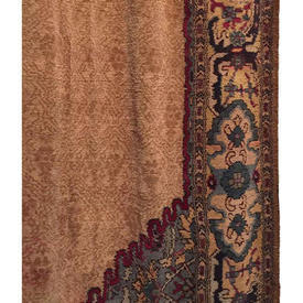 Door Curtain 10' x 4' Tan Chenille / Moorish Patt Border