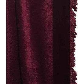 "Door Curtain 10'3"" x 4'6"" Burgundy Plush / Fringe"