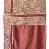 """Bed Cover (4P) 8'6"""" x 10' Tapestry Panel / Plush Velvet Border / Metal Braid / Fringed"""