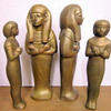 Golden Egyptian Statuettes (37cm to 43cm H)