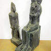 Statuettes Of Egyptian Male 52cm high And Godess Sekhmet 60cm high