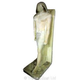 Egyptian Stone Carved Male Statuette