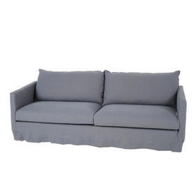 Denim Blue Loose Fabric Cover 4 Seater Sofa