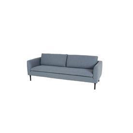 Blue Tweed 4 Seater Sofa on Black Feet
