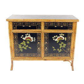Oriental Bamboo/Black 2 Door 2 Drawer Sideboard