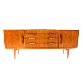 70'S 6' Teak 2 Door 4 Central Drawer Sideboard  (50S)