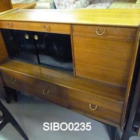 50'S 4' Mahogany Black & Tola Sideboard
