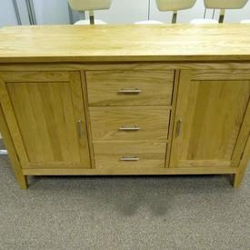 137Cm X 46Cm Classic Ash 2 Door / 3 Drawer Sideboard