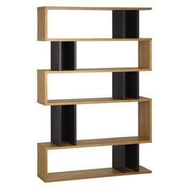 Conran Oak & Charcoal Balance Shelf