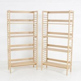 180 X 85Cm Soaped Oak Ercol Ladderette ADjustable 4 Tier  Shelf