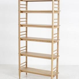 185 X 95Cm Soaped Oak Ercol Ladderette ADjustable 5 Tier  Shelf