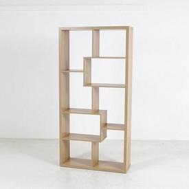 180Cm X 89Cm Oak Tetris Style Open Box Shelf Unit