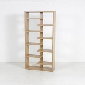 180Cm X 89Cm Oak 8 Tier Semi Float Middle Slat Shelf Unit