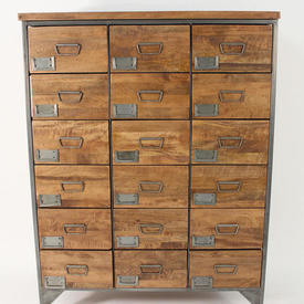137Cm X 104Cm X 41Cm Re-Engineered 18 Drawer Apothacary Tall Chest