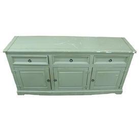 168Cm Distressed Marsh Green 3 Door 3 Drawer Sideboard