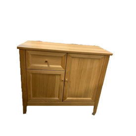 85Cm 2 Door 1 Drawer Oak Miller Sideboard