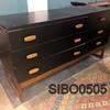 131 X 46Cm G Plan Black & Teak 6 Drawer Sideboard