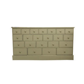 Grand Cream 22 Drawer Linen Chest 168Cm X 89Cm