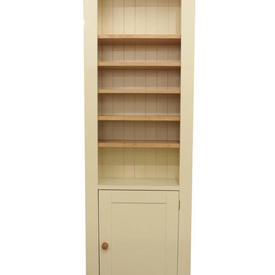 Cots 1 Door Cream Slim Wiltshire Open Pine Display Unit
