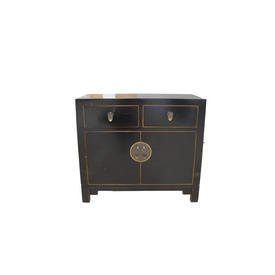 Oriental Black with Gilt inlay 2 Door 2 Drawer Sideboard