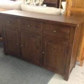 Jri Acacia Dk Wood 3 Door/3 Drawer Sideboard  , (Reproduction)