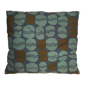 "Floor Cushion 22"" x 27"" Aqua / Charcoal Abstract Vases Print"