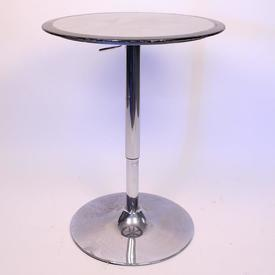 Feb Black/Silver And Chrome Height ADjustable Table