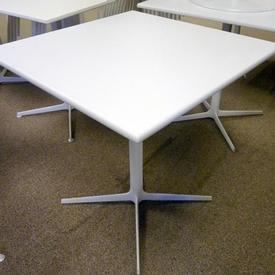 70Cm Square Dizzy Arper White 4 Prong Base Cafe Table