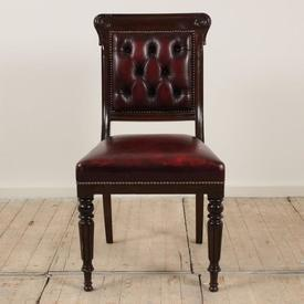 Mahogany Leather Seat & Back Cabinet Room Chair