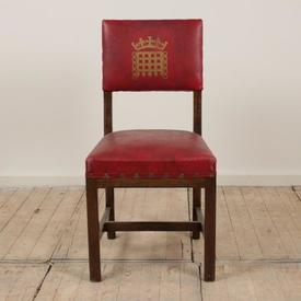 Red Leather Seat & Back House Of Lords Chair