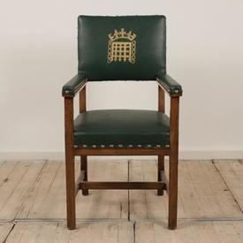 House Of Commons Carver Chair in Green