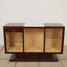 """4'8"""" Rosewood Art Deco Open Sideboard"""