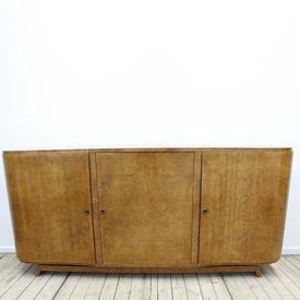 """6'6"""" Walnut 1930'S 3 Door Sideboard"""