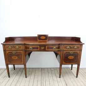 6' Mahogany inland 3 Drawer Georgian Sideboard with Gallery Back