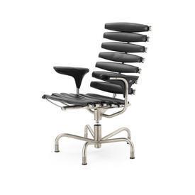 "Black Leather ""Ds-2100"" Skeleton Executive Desk Chair"