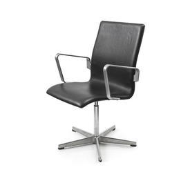 "Black Leather & Ali Low Back ""Oxford"" Desk Chair"